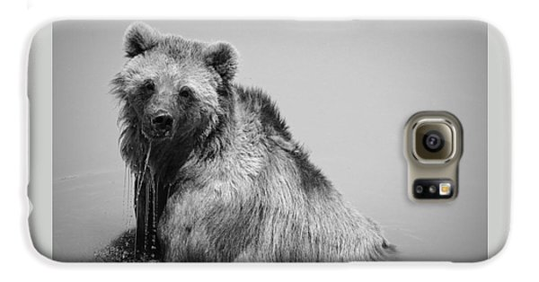 Galaxy S6 Case featuring the photograph Grizzly Bear Bath Time by Karen Shackles