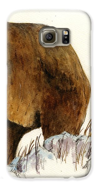 Grizzly Bear Galaxy S6 Case - Grizzly Bear Second Part by Juan  Bosco