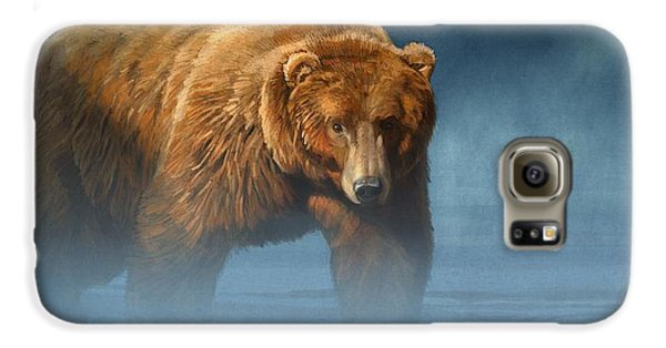 Grizzly Encounter Galaxy S6 Case by Aaron Blaise