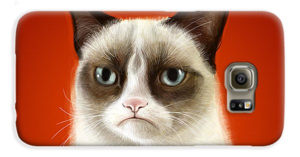 Grumpy Cat Galaxy S6 Case by Olga Shvartsur