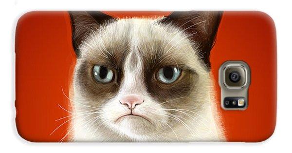 Cat Galaxy S6 Case - Grumpy Cat by Olga Shvartsur
