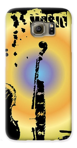 Drums Galaxy S6 Case - Grunge Background Vector by Ozkan