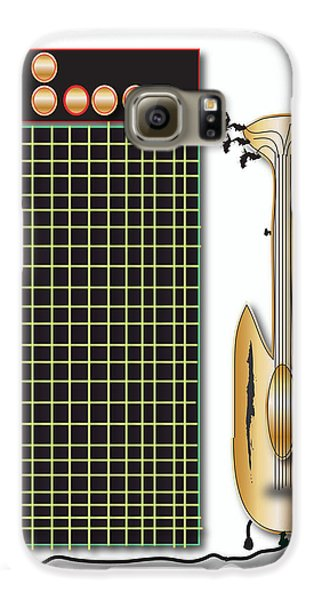 Guitar And Amp Galaxy S6 Case by Marvin Blaine