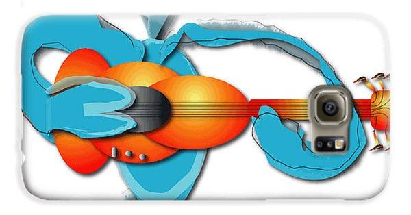 Galaxy S6 Case featuring the digital art Guitar Rocker by Marvin Blaine