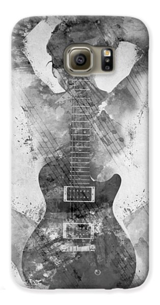 Largemouth Bass Galaxy S6 Case - Guitar Siren In Black And White by Nikki Smith