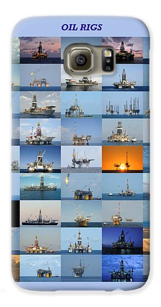 Gulf Of Mexico Oil Rigs Poster Galaxy S6 Case