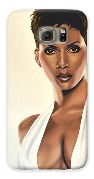 Halle Berry Painting Galaxy S6 Case by Paul Meijering