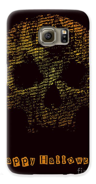 Magician Galaxy S6 Case - Halloween Poster With Skull. Vector by Jumpingsack