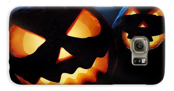 Halloween Pumpkins Closeup -  Jack O'lantern Galaxy S6 Case by Johan Swanepoel