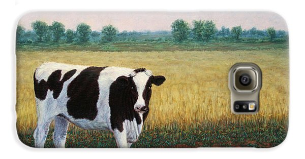 Cow Galaxy S6 Case - Happy Holstein by James W Johnson