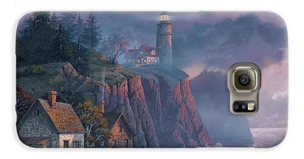 Galaxy S6 Case - Harbor Light Hideaway by Michael Humphries