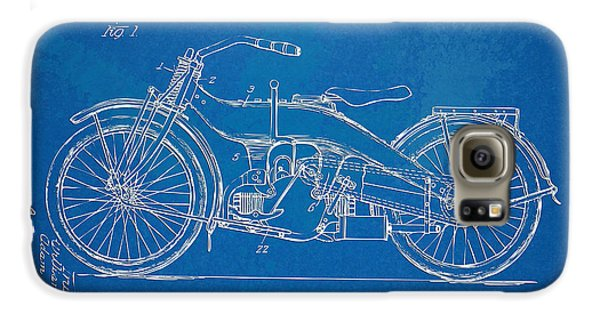 Harley-davidson Motorcycle 1924 Patent Artwork Galaxy S6 Case by Nikki Marie Smith