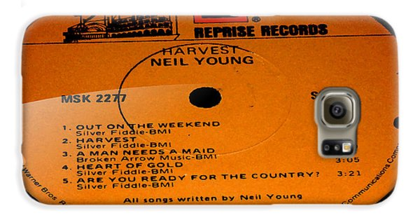 Harvest - Neil Young Side 1 Galaxy S6 Case by Marcello Cicchini