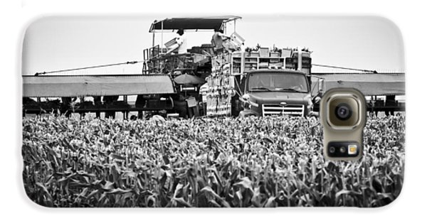 Galaxy S6 Case featuring the photograph Harvesting Time by Ricky L Jones