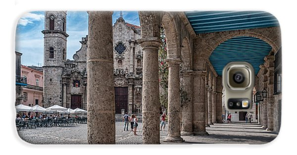 Havana Cathedral And Porches. Cuba Galaxy S6 Case