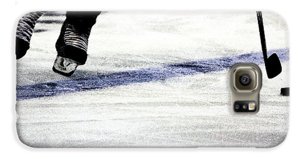 Hockey Galaxy S6 Case - He Skates by Karol Livote