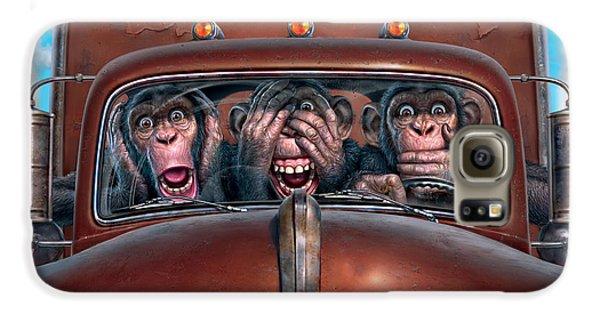 Truck Galaxy S6 Case - Hear No Evil See No Evil Speak No Evil by Mark Fredrickson