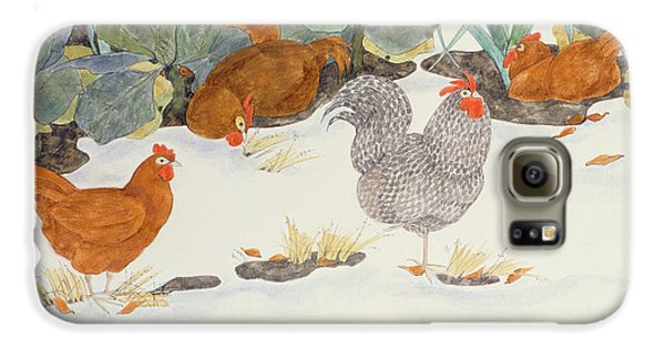 Chicken Galaxy S6 Case - Hens In The Vegetable Patch by Linda Benton