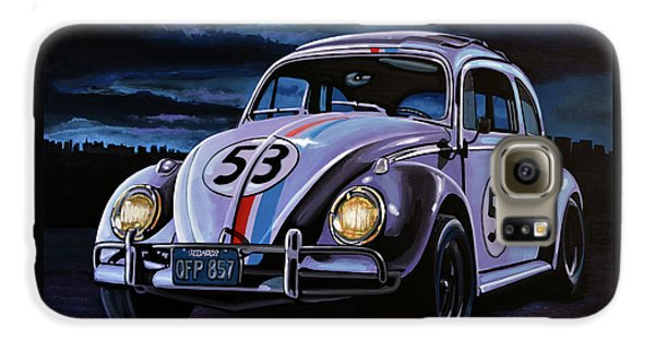 Herbie The Love Bug Painting Galaxy S6 Case