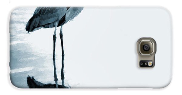 Heron In The Shallows Galaxy S6 Case by Carol Leigh