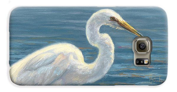 Heron Light Galaxy S6 Case by Lucie Bilodeau