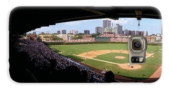 Wrigley Field Galaxy S6 Case - High Angle View Of A Baseball Stadium by Panoramic Images