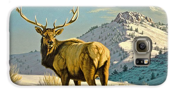 Bull Galaxy S6 Case - High Country Bull by Paul Krapf