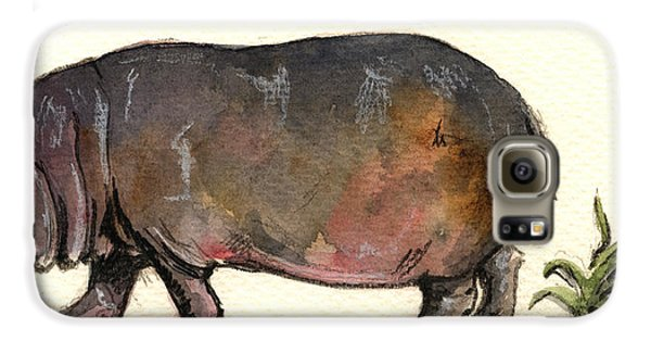 Hippo Galaxy S6 Case by Juan  Bosco