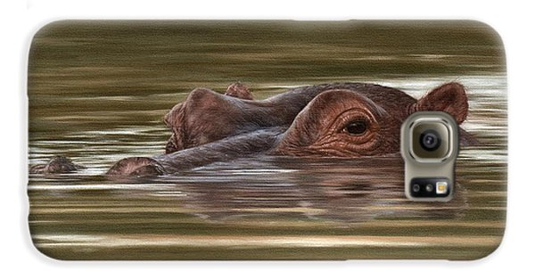 Hippo Painting Galaxy S6 Case