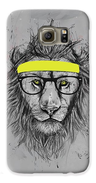 Lion Galaxy S6 Case - Hipster Lion by Balazs Solti