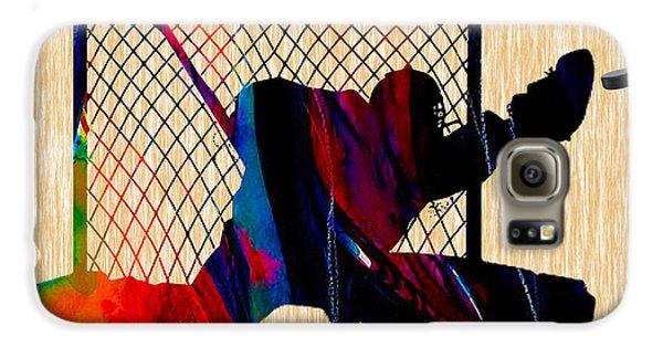 Hockey Goalie Galaxy S6 Case by Marvin Blaine