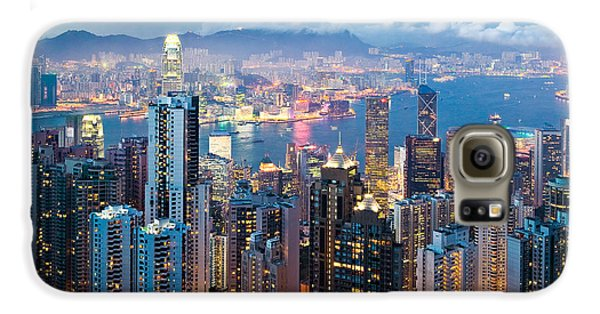 Hong Kong At Dusk Galaxy S6 Case by Dave Bowman