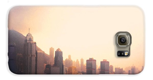Hong Kong Harbour Sunset Galaxy S6 Case by Pixel  Chimp