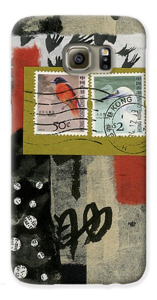 Hong Kong Postage Collage Galaxy S6 Case by Carol Leigh