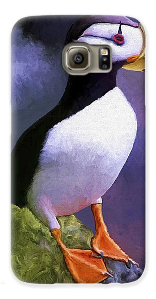 Puffin Galaxy S6 Case - Horned Puffin by David Wagner