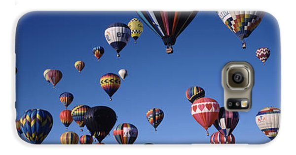 Hot Air Balloons Floating In Sky Galaxy S6 Case by Panoramic Images