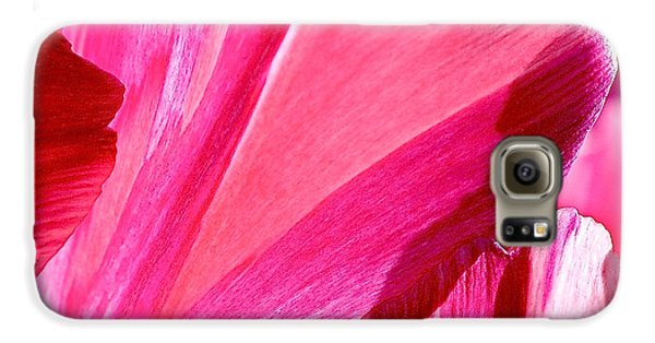 Hot Pink Galaxy S6 Case by Rona Black