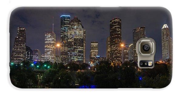 Houston Skyline At Night Galaxy S6 Case