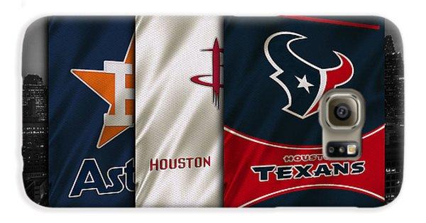 Houston Sports Teams Galaxy S6 Case by Joe Hamilton