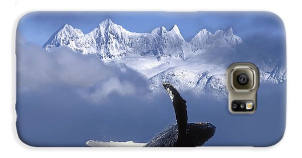 Humpback Whale Breaches In Clearing Fog Galaxy S6 Case by John Hyde