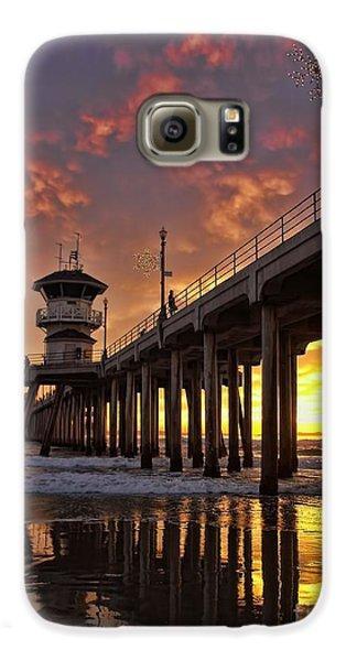 Huntington Beach Pier Galaxy S6 Case