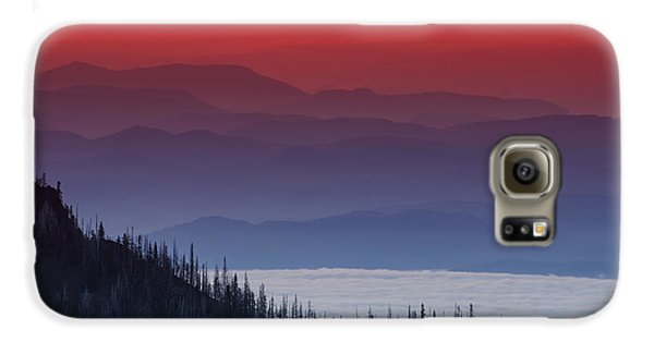 Mountain Sunset Galaxy S6 Case - Hurricane Ridge Sunset by Mark Kiver