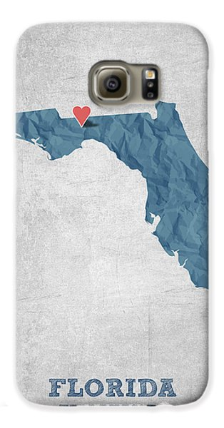 I Love Tallahassee Florida - Blue Galaxy S6 Case by Aged Pixel