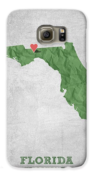 I Love Tallahassee Florida - Green Galaxy S6 Case by Aged Pixel
