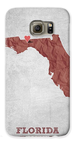 I Love Tallahassee Florida - Red Galaxy S6 Case by Aged Pixel