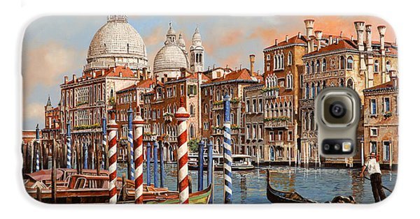 Boat Galaxy S6 Case - Il Canal Grande by Guido Borelli