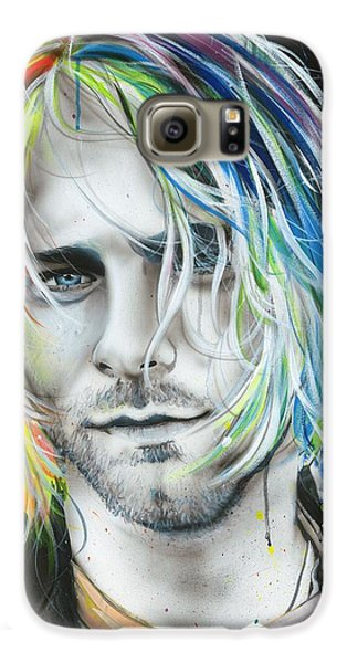 Kurt Cobain - ' In Debt For My Thirst ' Galaxy S6 Case by Christian Chapman Art