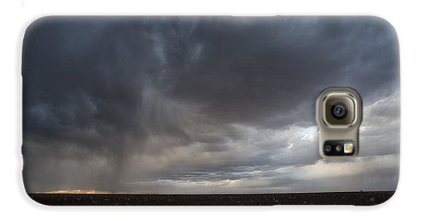 Incoming Storm Over A Cotton Field Galaxy S6 Case