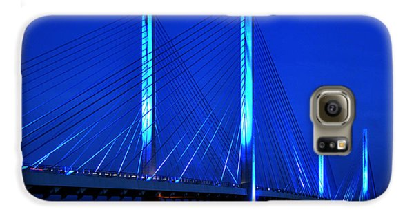 Indian River Bridge At Night Galaxy S6 Case