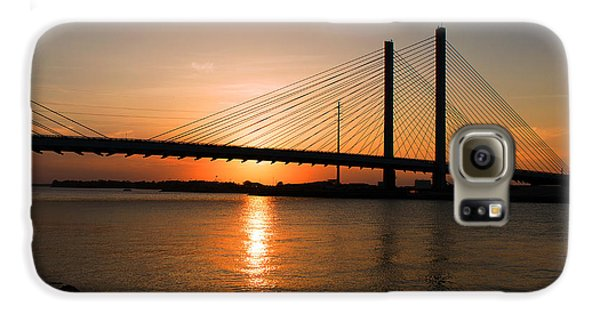 Indian River Bridge Sunset Reflections Galaxy S6 Case